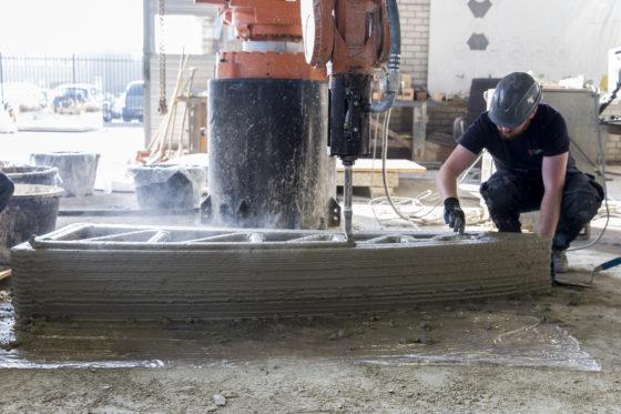 Door slim ontwerp kan betonprintbrug prima zonder wapening