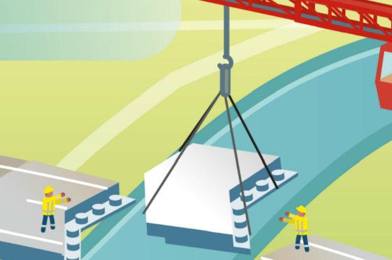 Viaduct bij Kampen nieuw circulair troeteldier van Rijkswaterstaat