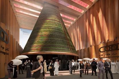 Circulaire biotoop voor wereldtentoonstelling Dubai