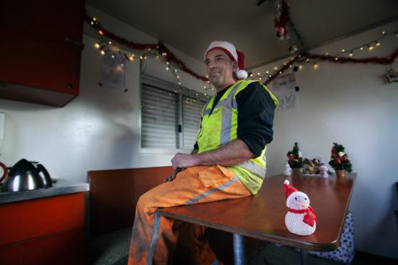 Heijmans-medewerker brengt zijn keet elk jaar in kerstsfeer: 'Elke bouwvakker heeft een klein hartje'