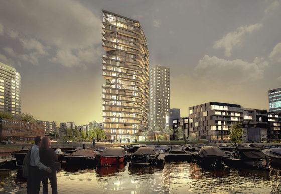 De strijd om het hoogste houten gebouw ter wereld woedt na op de Bouwbeurs