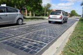 Binnenkort denderen zware vrachtwagens over de zonnepanelen