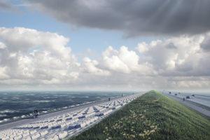 BAM en Van Oord beginnen nu echt aan de Afsluitdijk: tot 2023 steeds één rijbaan afgesloten