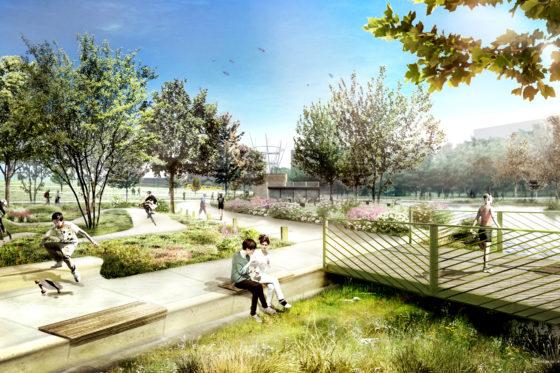 Spoorpark Tilburg: groene long binnenstad
