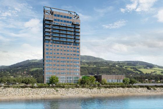 Noorse toren grijpt wereldrecord houten hoogbouw en staat dat voorlopig ook niet af