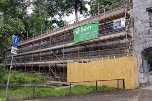 BAM was al bezig met restauratie ingestorte stadsmuur Maastricht