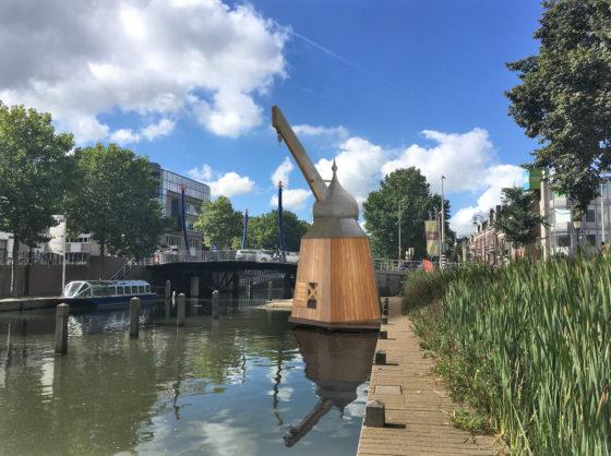 Reconstructie historische stadskraan in Utrecht
