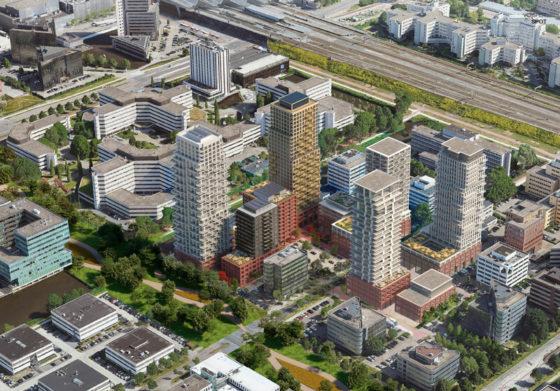 Tussen de kantoren van Amsterdam Zuidoost bouwt Pleijsier mee aan duizend nieuwbouwwoningen