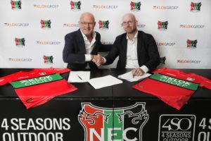 KlokGroep wordt shirtsponsor NEC
