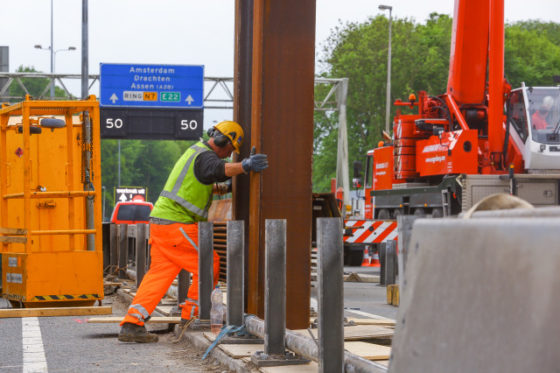Eindelijk bouwkuip voor Ring Groningen: Trillen damwanden niet zonder risico